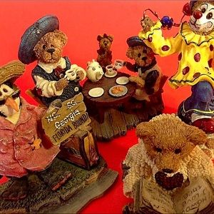 4 BOYDS BEARS AND FRIENDS COLLECTIBLE FIGURINES